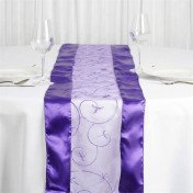 Purple – Table Runner - Embroider
