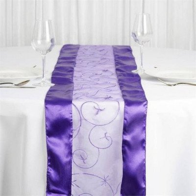 purple – table runner - embroider-1