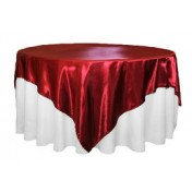 "Red – Overlay - Satin – 72""x72"""