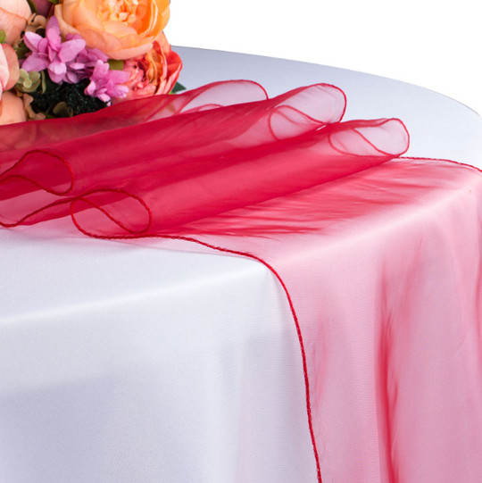 red – table runner - organza-1