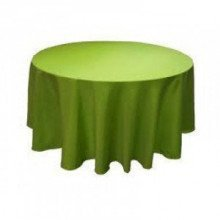 """Sage Green - Round Tablecloth – Poly – 120"""""""