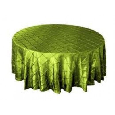 """sage green – round - tablecloth – pintuck - 120"""""""