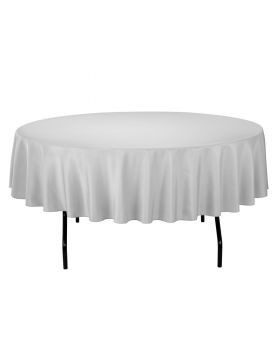 """silver - round tablecloth – poly – 90"""""""