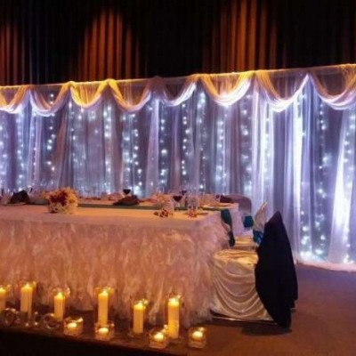 lighted backdrop