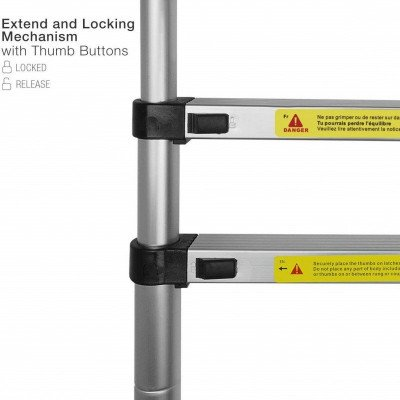 12.5ft Telescoping Extension Ladder picture 2