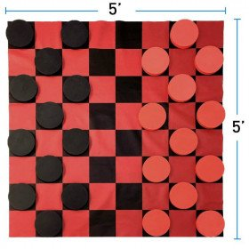 Giant Checkers with Board Game