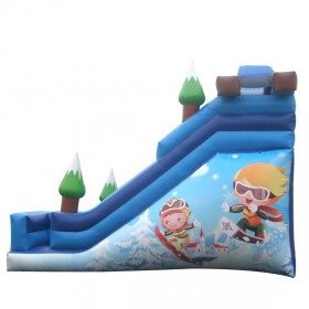 """18ft Snow Resort Slide with Pool """"Features Customization Slide"""""""