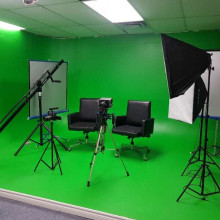 Green screen studio space