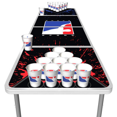 splatter edition beer pong table (foldable)-1