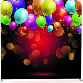Colorful Balloons pillowcase backdrop