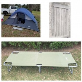 Camping Tent with Cot and Mattress