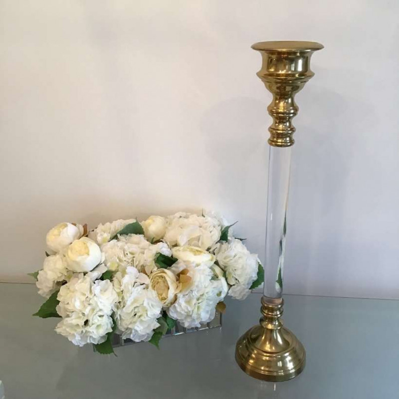 Gold candle holders - small