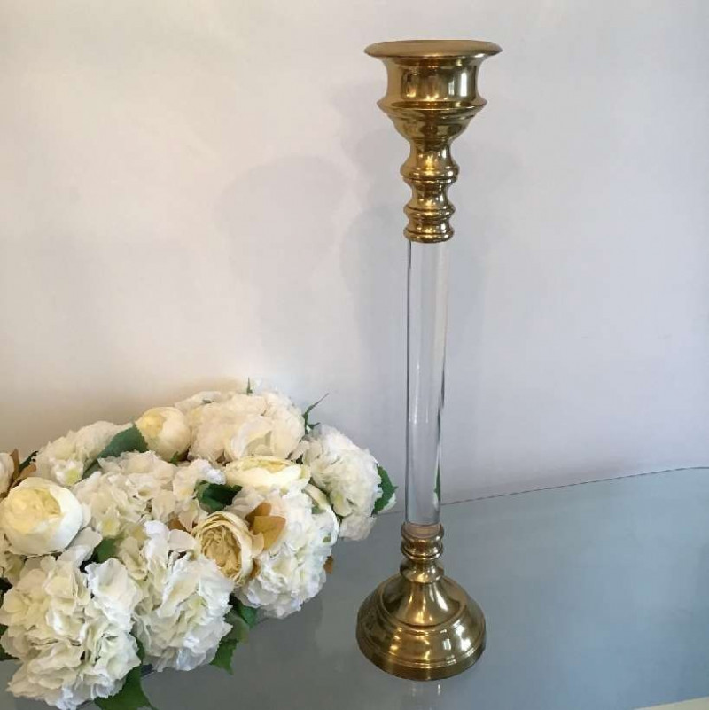 gold candle holders - small-2