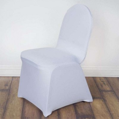 spandex chair covers - white