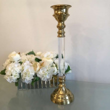 Gold candle holders - large
