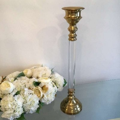 gold candle holders - large-2