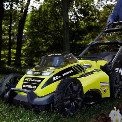 lithium-ion brushless cordless push lawn mower picture 1