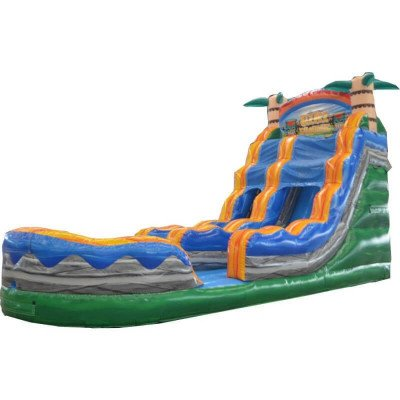 Tiki Plunge 18 Ft Inflatable Waterslide picture 1