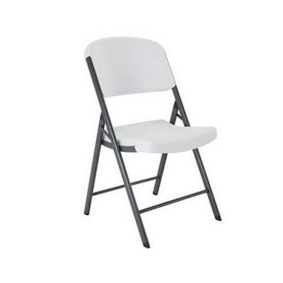 White Countoured Folding Chair - Heavier Duty picture 1