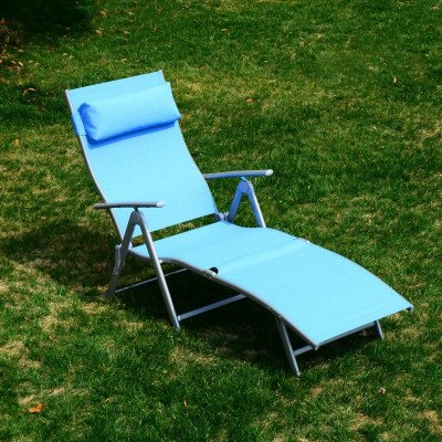 heavy-duty adjustable folding reclining chair seat picture 1