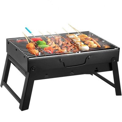 folding portable lightweight barbecue grill picture 2
