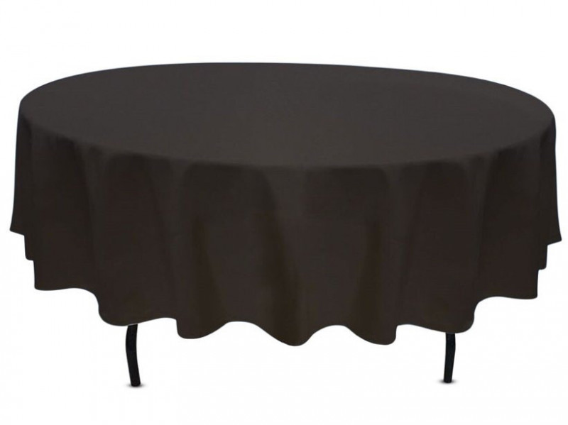 60 inch round table linen in black