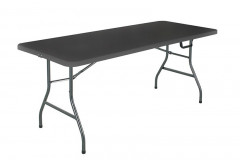 6ft foldable table in dark brown