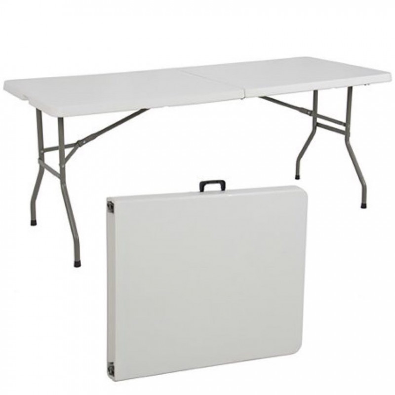 6ft foldable Plastic table in grey