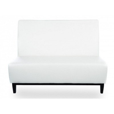 loulou – 4' white armless love seat