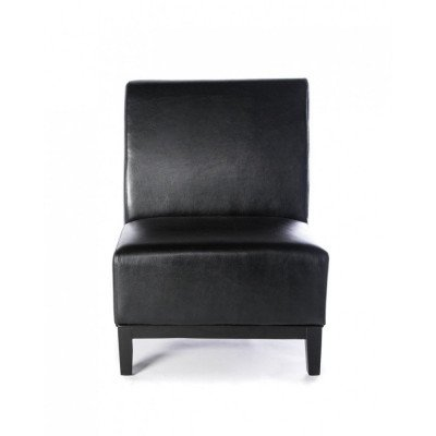 loulou – black armless chair