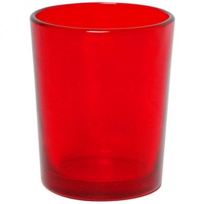 red votive cylinder candle holders