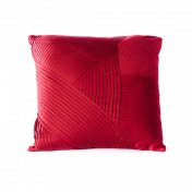Red Cross Hatched Pillow
