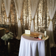 GOLD AND IVORY BACKDROP