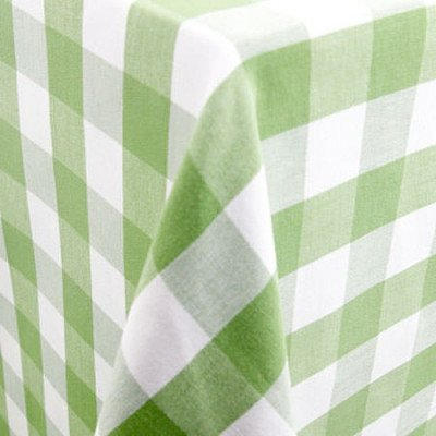 "Lyme Check Kiwi 101""x156"" Tablecloth picture 1"