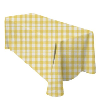 "Lyme Check Yellow 101""x156"" Tablecloth picture 1"
