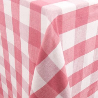 """Lyme Check Strawberry 101""""x156"""" Tablecloth picture 2"""