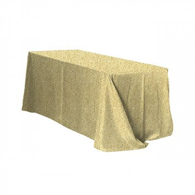 """Gilty Pleasure Gold 101""""x156"""" Tablecloth picture 1"""