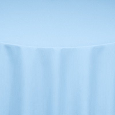 """Nuovo Light Blue 108"""" Round Tablecloth picture 1"""