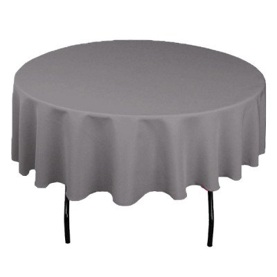 "Topaz Silver 108"" Round Tablecloth picture 1"