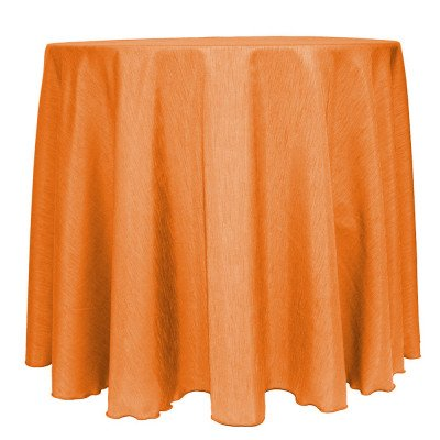 "Dupionique Tangerine 108"" Round Tablecloth picture 1"