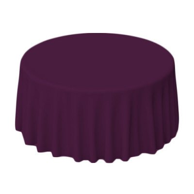 """Nuovo Eggplant 108"""" Round Tablecloth picture 1"""
