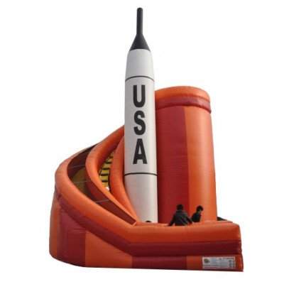 36' Tall Inflatable Rocket Slide picture 1