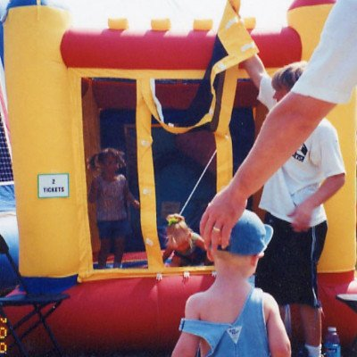 Inflatable Castle Space Walk For Toddlers 8' X 8' picture 1