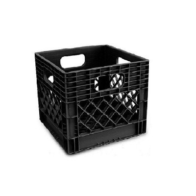 heavy duty milk crate with reinforced handles picture 2