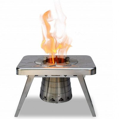 compact wood burning camping stove picture 2