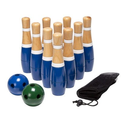 wooden lawn bowling set picture 2