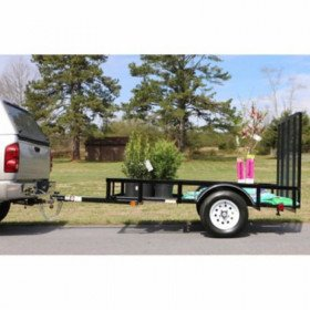 Utility Trailer 5'x8' Straight Tail With Gate Golf Cart Mower