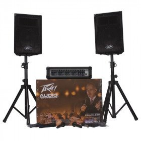 Complete Audio System - 600W Silver Series - Mixer, Speakers, More