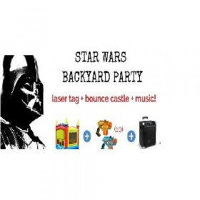 Star Wars Laser Tag and Bounce Castle