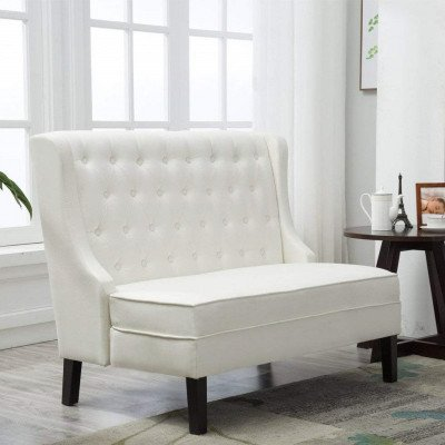 tufted loveseat settee sofa bench picture 1